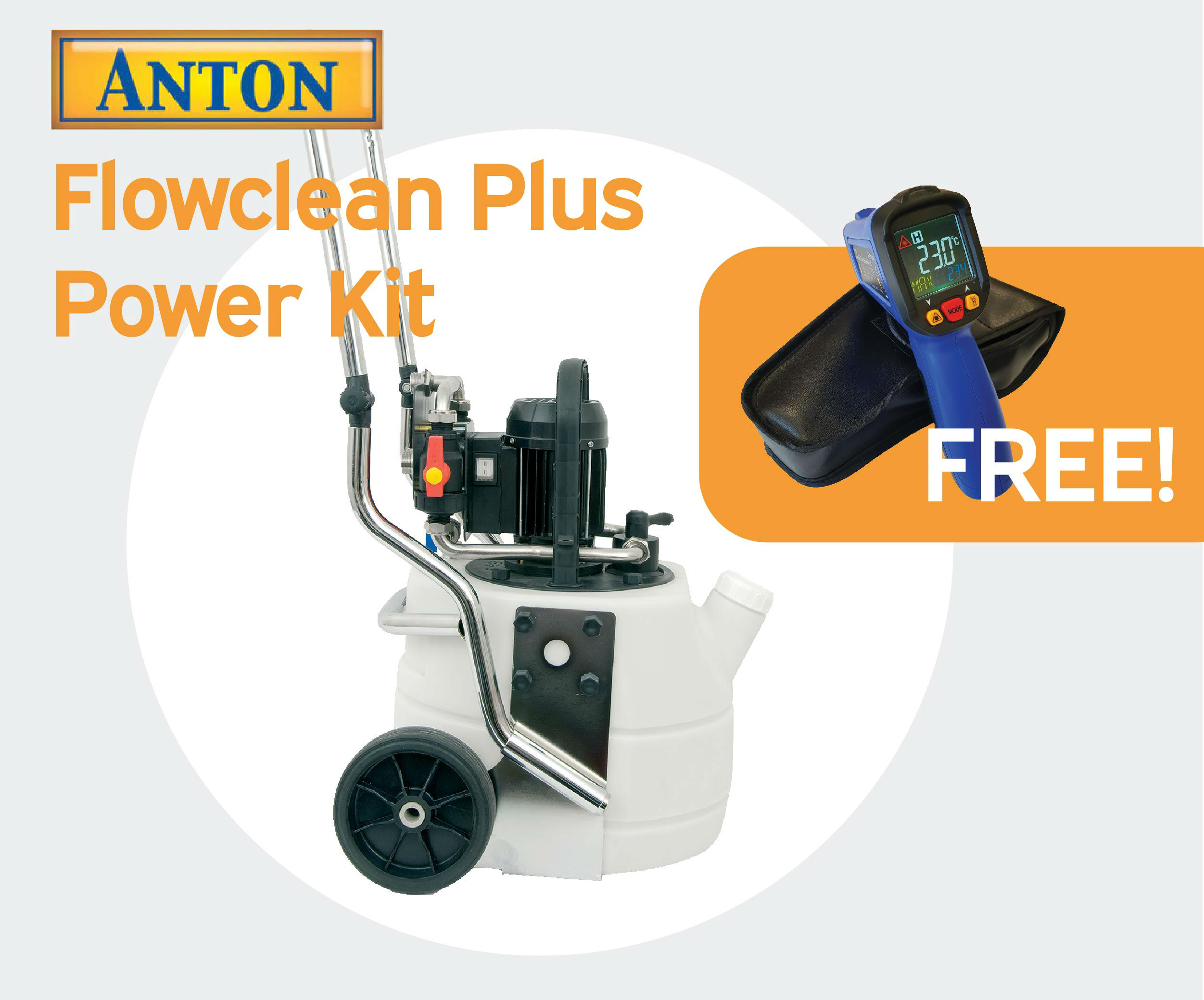 Anton Flowclean Plus with Free AIRG thermometer