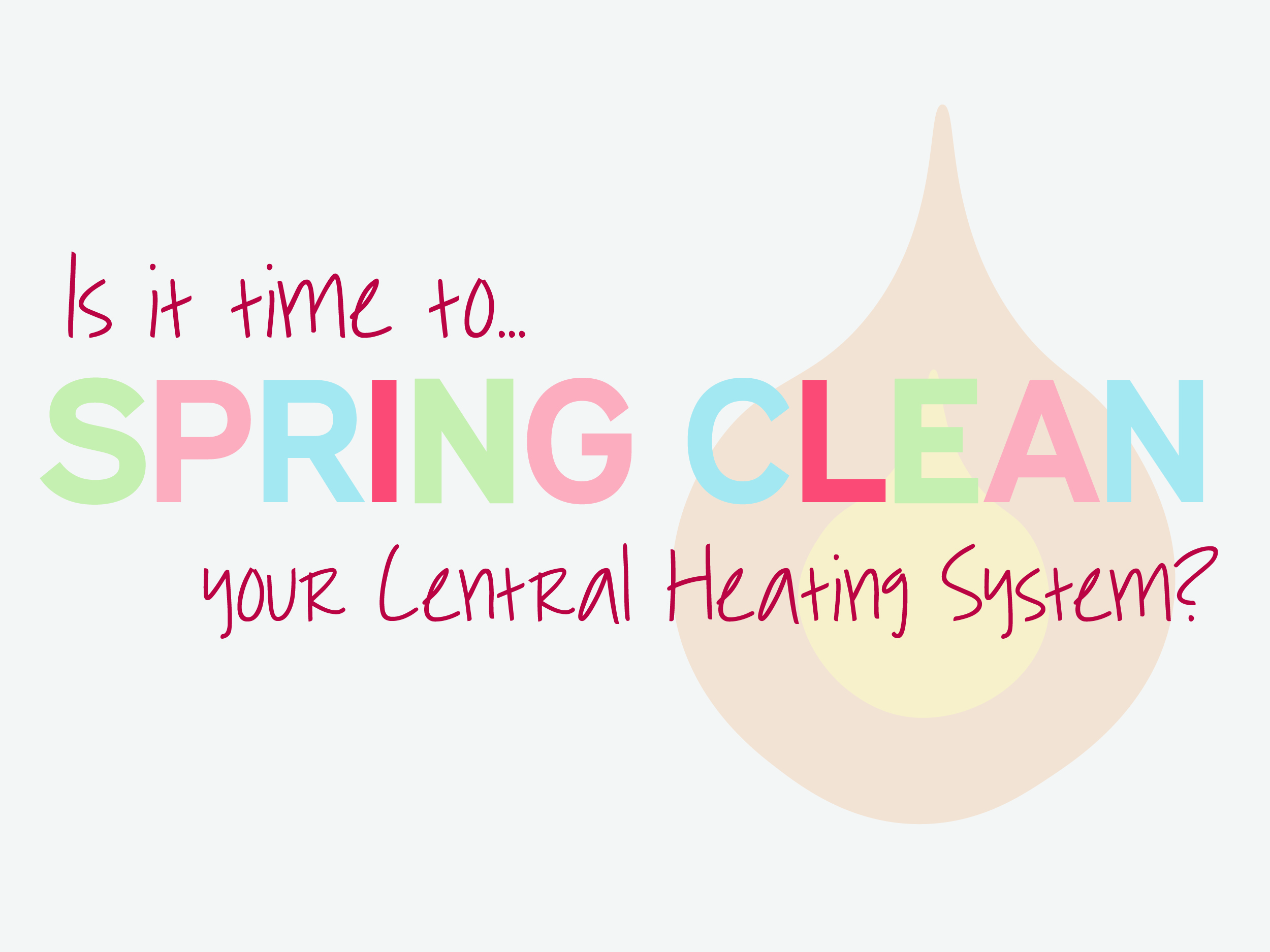 spring clean your central heating system