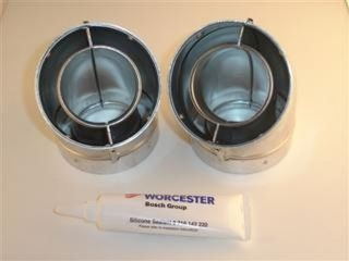 1011383 Worcester 77161910140 45 Deg Flue Elbow (Pair)-F106E45