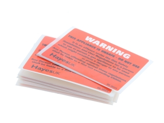 1640230 Hayes 66.3023 Warning Unsafe Appliance Labels (Pack Of 10)