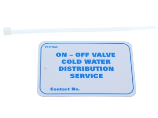 1910230 Arctic Cold Water Distribution Vinyl Tags Pack Of 10