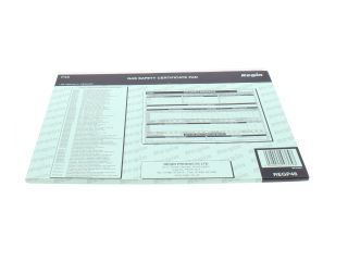 4270434 Regin REGP46 Gas Safety/Landlords Certificate Pad